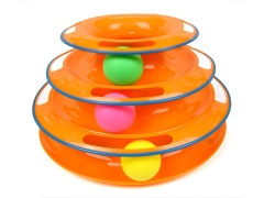 3-layers Tracks Cat Ball Toy