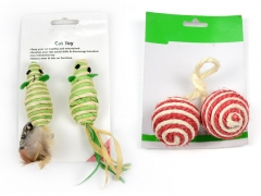 Pet Play Toy - Mouse/Sisal Ball