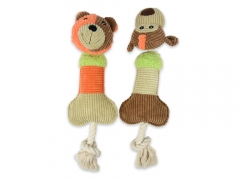 Pet Play Squeaky Toys - Bear&Monkey